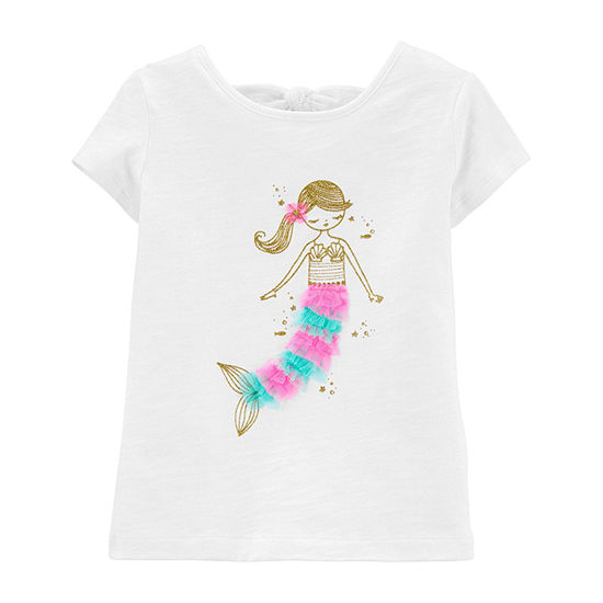 Carter's Toddler Girls Round Neck Short Sleeve Graphic T-Shirt