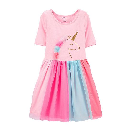 Carter's Girls Short Sleeve Tutu Dress - Preschool / Big Kid