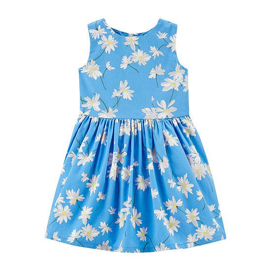 Carter's - Toddler Girls Sleeveless Floral A-Line Dress