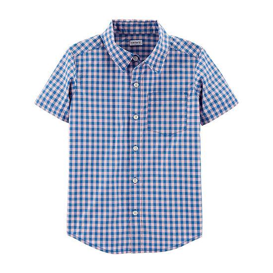 Carter's Little Kid / Big Kid Boys Short Sleeve Button-Front Shirt