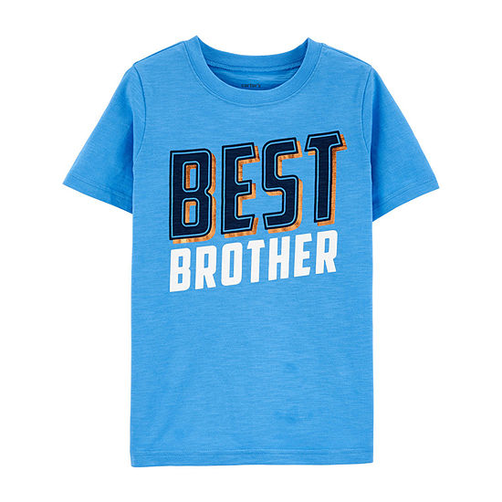 Carter's - Little Kid / Big Kid Boys Crew Neck Short Sleeve Graphic T-Shirt