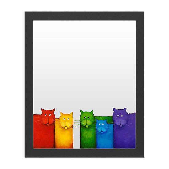 Trademark Fine Art Rainbow Cats Message Board