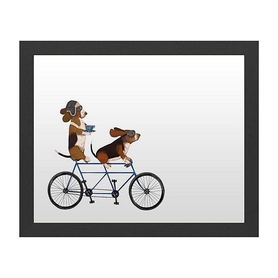 Trademark Fine Art Basset Hound Tandem Message Board