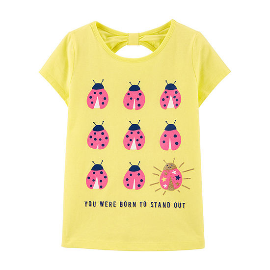 Carter's - Little Kid / Big Kid Girls Round Neck Short Sleeve Graphic T-Shirt