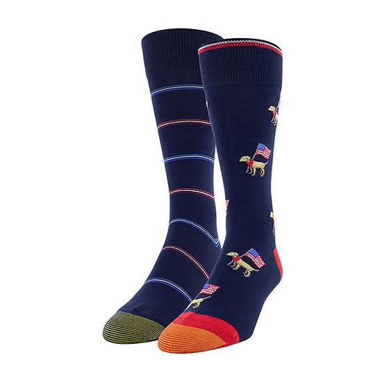 Gold Toe Mens 2 Pair Crew Socks