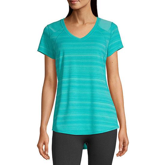 Xersion Womens V Neck Short Sleeve T-Shirt Tall