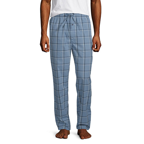 Stafford Men's Woven Pajama Pants Straight Fit