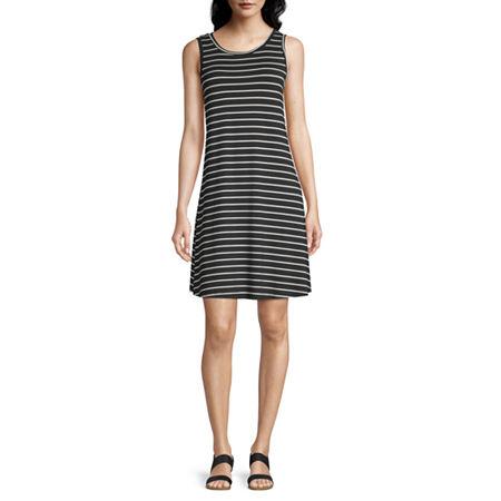 a.n.a Sleeveless Shift Dress, Small , Black