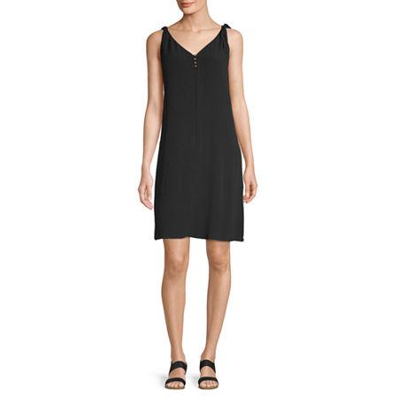 a.n.a Sleeveless Sheath Dress, X-small , Black
