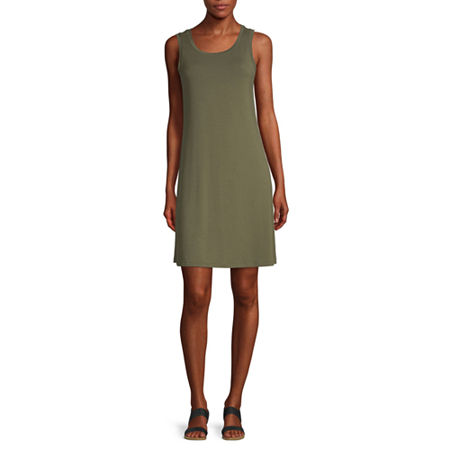 a.n.a Sleeveless Shift Dress, Small , Green
