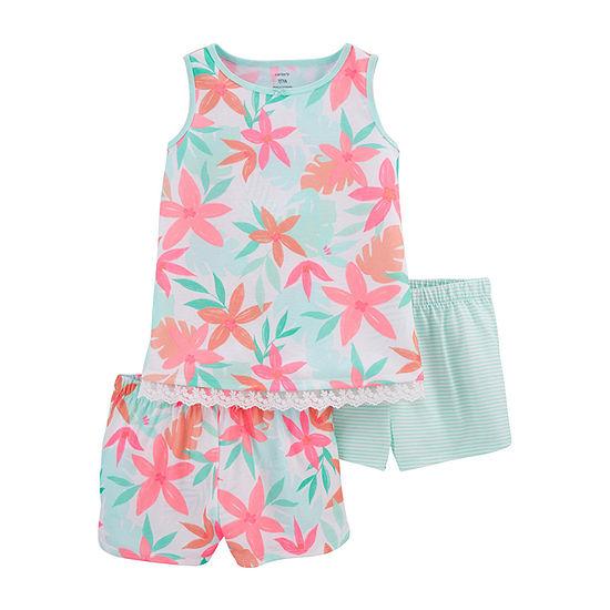 Carter's Little & Big Girls 3-pc. Shorts Pajama Set