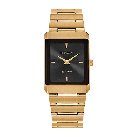 Citizen Stiletto Womens Gold Tone Stainless Steel Bracelet Watch - Eg6012-59e