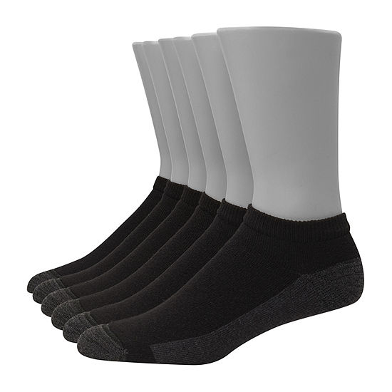 Hanes Ultimate Mens 6 Pair Low Cut Socks