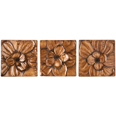 Set of 3 Blossom Flower Wall Decor