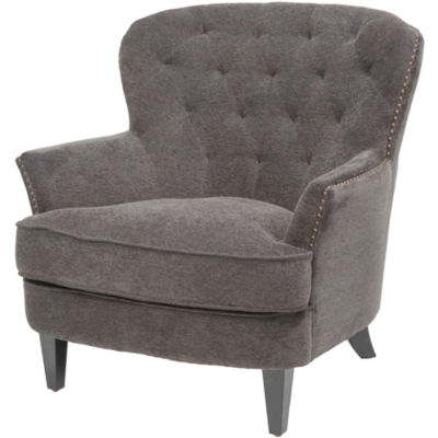 Tafton Fabric Tufted Wing Chair