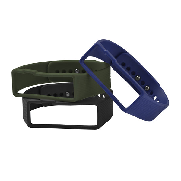 Nuband Mens 3-pk. Interchangeable Silicone Sport Watch Bands