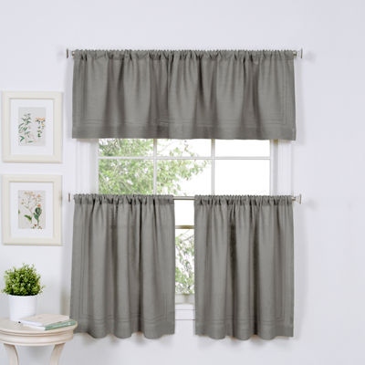 Home Expressions Marin 2-pc. Rod-Pocket Kitchen Curtain Set