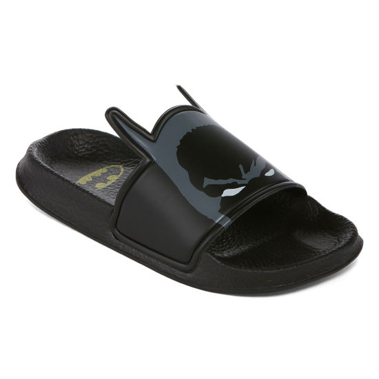 Warner Brothers Batman Boys Slide Sandals - Little Kids/Big Kids