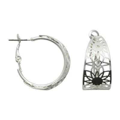 Bold Elements Brass 26mm Hoop Earrings