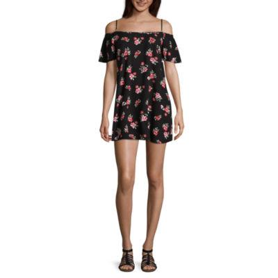 Arizona Short Sleeve Sundress-Juniors