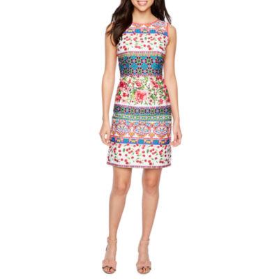 Be by CHETTA B Sleeveless Banded Sheath Dress