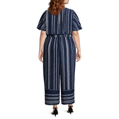 Secret Charm Short Sleeve Jumpsuit-Plus