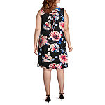 Alyx Sleeveless Floral Shift Dress - Plus
