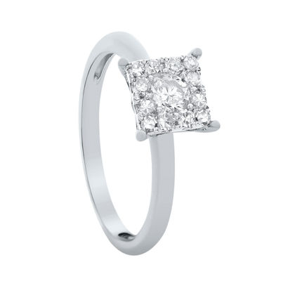Brilliant Dream™  3/4 CT. T.W. Princess-Style Diamond Engagement Ring