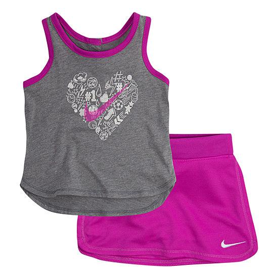 Nike Girls 2-pc. Skort Set Preschool