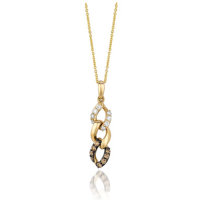 Grand Sample Sale™ by Le Vian® Chocolatier® Chocolate & Vanilla Diamonds™ Pendant in 14k Honey Gold™