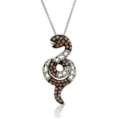 Grand Sample Sale™ by Le Vian® Chocolatier® Chocolate & Vanilla Diamonds™ Snake Pendant in 14k Vanilla Gold®
