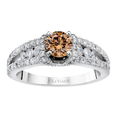 Grand Sample Sale™ by Le Vian® Bridal® Chocolate & Vanilla Diamonds™ Ring in 14k Vanilla Gold®