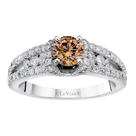 LIMITED QUANTITIES Le Vian Grand Sample Sale™ Ring featuring Chocolate Diamonds®, Vanilla Diamonds® set in 14K Vanilla Gold®