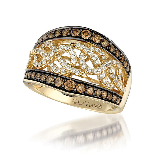LIMITED QUANTITIES Le Vian Grand Sample Sale™ Ring featuring Chocolate Diamonds®, Vanilla Diamonds® set in 14K Honey Gold™