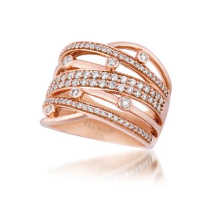 Grand Sample Sale™ by Le Vian® Strawberry N' Vanilla™ Gladiator Weave™ Vanilla Diamonds® Ring in 14k Strawberry Gold®