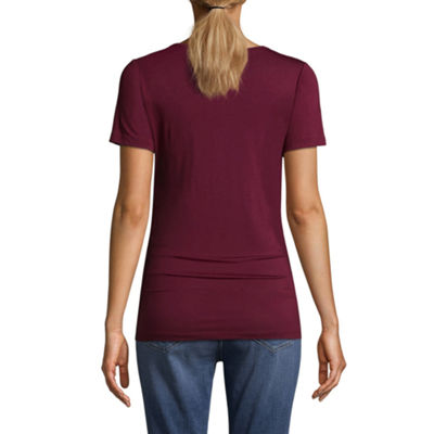 "Planet Motherhood Short Sleeve Scoop Neck ""#expecting"" Graphic Tee - Maternity"