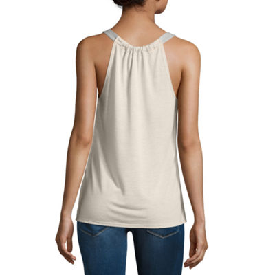 Rewind Knit Tank Top-Juniors
