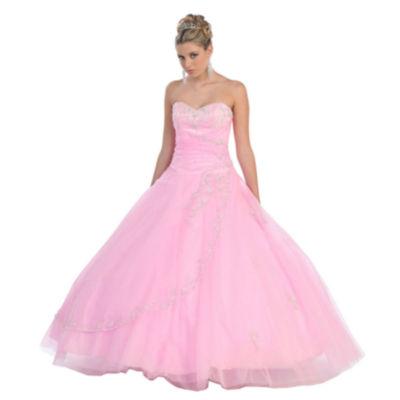 Strapless Formal Princess Ball Gown - Juniors