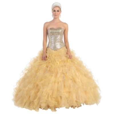 Lace Up Back Ball Gown - Juniors