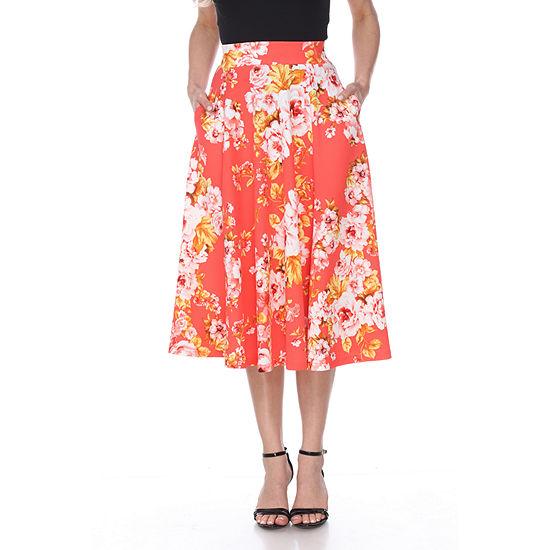 bd4f37348e8 White Mark Flower Print Midi Flare Skirt - JCPenney