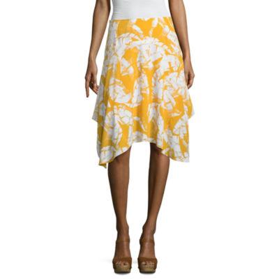 Worthington Scarf Hem Skirt