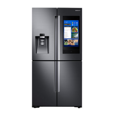 Samsung ENERGY STAR® Smart Wi-Fi Enabled 22 cu. ft. Counter Depth 4-Door Flex™ Refrigerator with Family Hub™