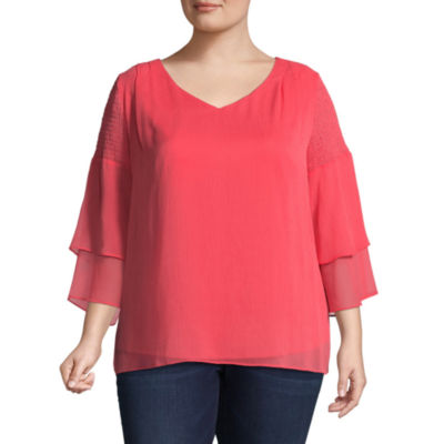 Alyx Tiered Sleeve Blouse - Plus