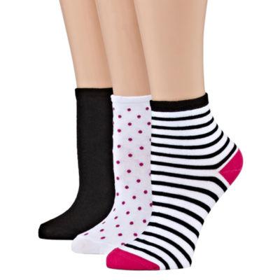 Mixit 3 Pair Quarter Socks - Womens