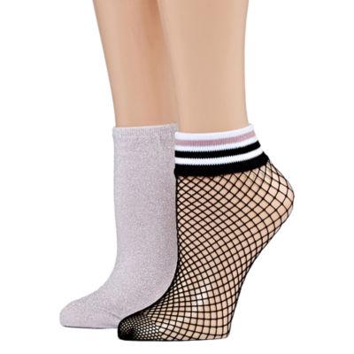 Mixit 2 Pair Low Cut Socks - Womens