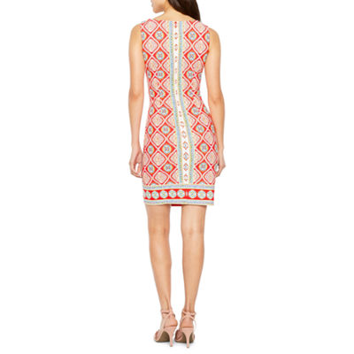 R & K Originals Sleeveless Pattern Shift Dress