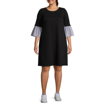 Luxology Short Sleeve Shift Dress - Plus