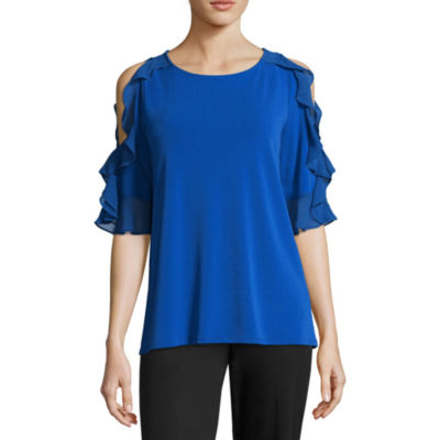 Worthington Relaxed Ruffle Top - Tall