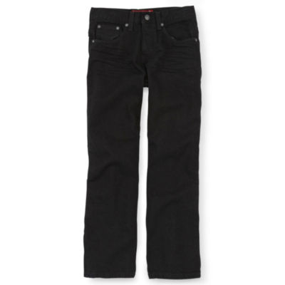 Arizona Relaxed Fit Jeans Boys 4-20 , Slim & Husky