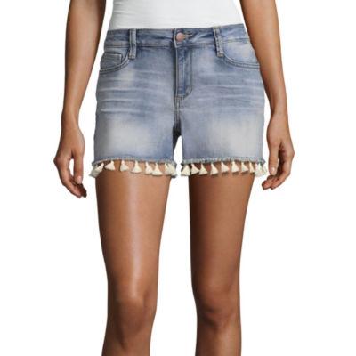 """a.n.a Tassle Denim Shorts (3 1/2"""")"""